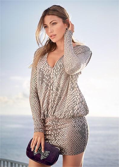 shimmer detail dress