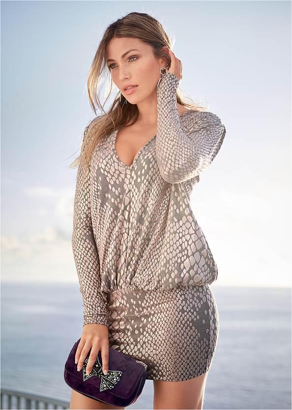 Shimmer Detail Dress,Push Up Bra Buy 2 For $40,Rhinestone Clutch