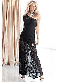 Front View Lace Gown
