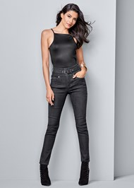 Alternate View Belted High Waist Jeans