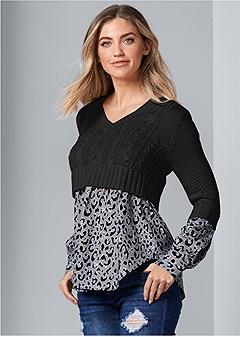 shirting detail sweater