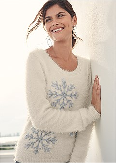 cozy snowflake sweater