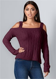 Front View Chenille Sweater