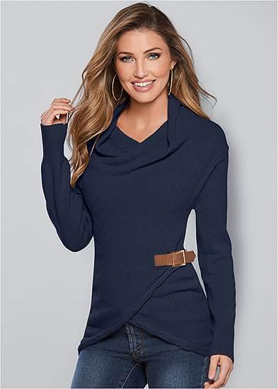 Side Buckle Detail Sweater