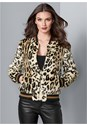 Front View Leopard Bomber Jacket