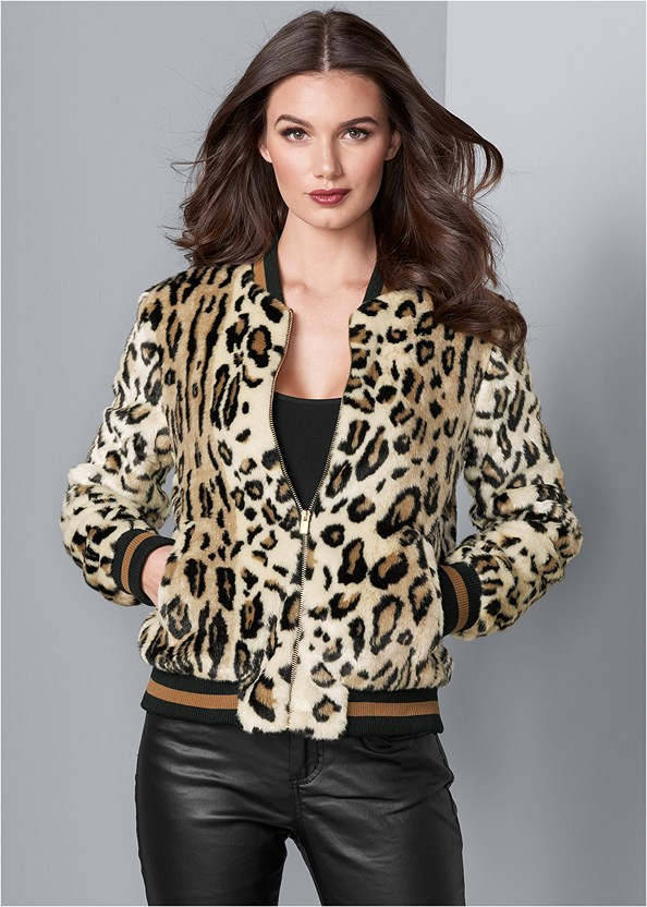 Leopard Bomber Jacket,Basic Cami Two Pack,Faux Leather Pants,Fringe Scarf