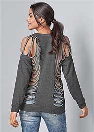 Front View Slash Detail Sweatshirt