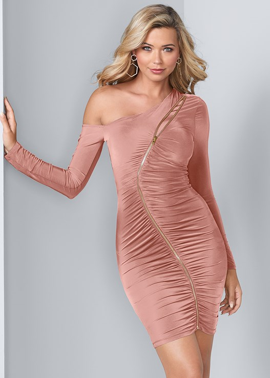 ZIPPER DETAIL DRESS,EVERYDAY YOU STRAPLESS BRA,EVERYDAY YOU NO SHOW PANTY,HIGH HEEL STRAPPY SANDALS
