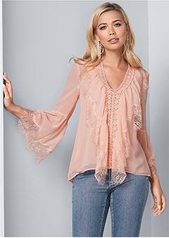 lace ruffle blouse