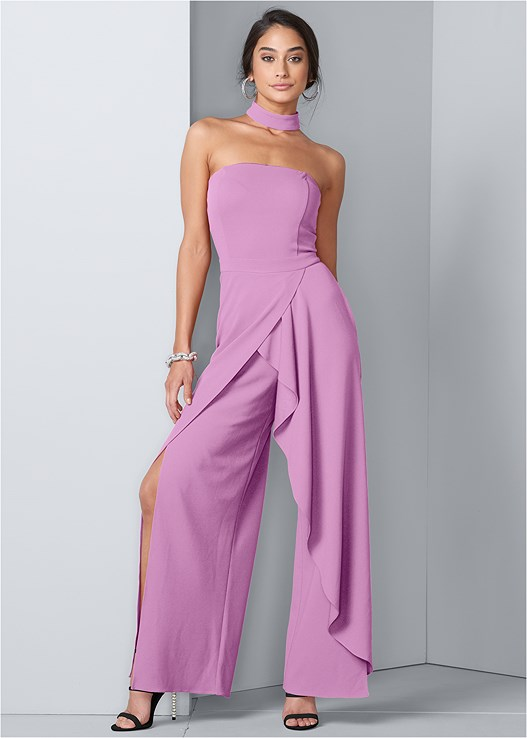 CHOKER NECK JUMPSUIT,CONFIDENCE TUMMY SHAPER,EMBELLISHED STRAPPY HEEL