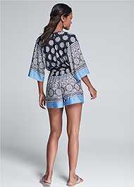 Full back view Kimono Sleeve Romper