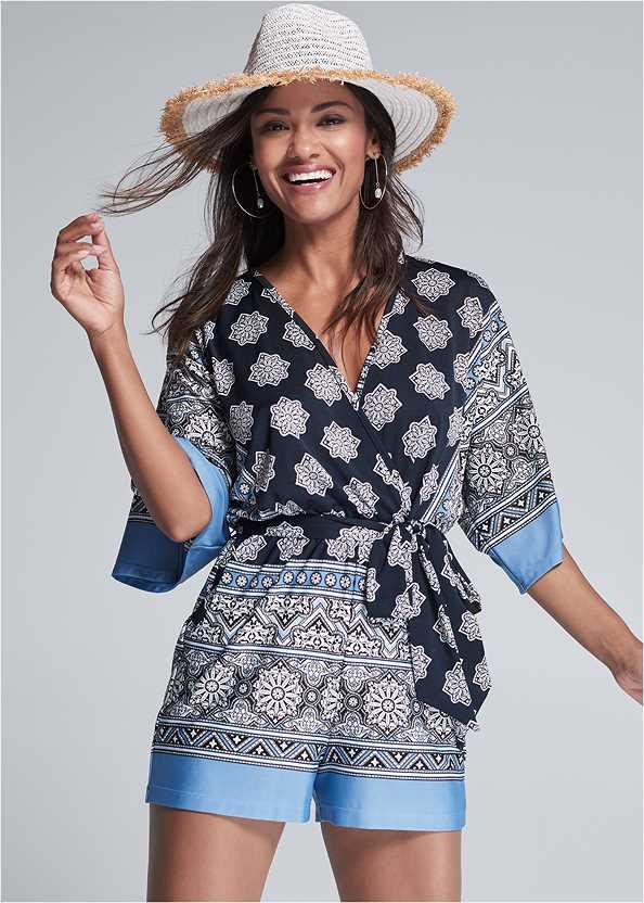 Kimono Sleeve Romper,Push Up Bra Buy 2 For $40