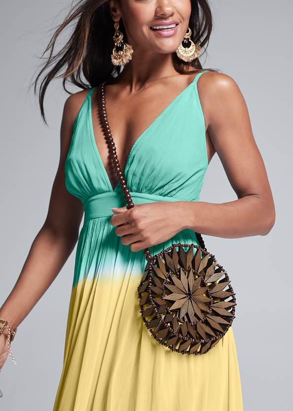 Alternate View Circle Basket Wooden Bag