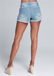 Alternate View Sequin Patch Jean Shorts