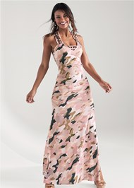 Full front view Camo Maxi Dress