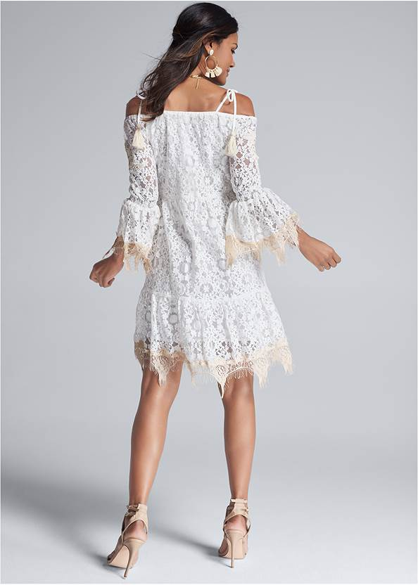 Full back view Lace Off The Shoulder Dress