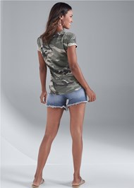 Full back view Camo Pocket Top