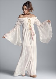 Alternate View Off Shoulder Maxi Dress