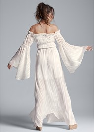 Full back view Off Shoulder Maxi Dress