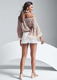 Full back view Off The Shoulder Lace Top