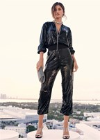 sequin jogger jumpsuit