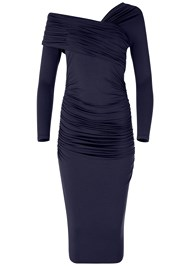 Alternate View Drape Detail Bodycon Dress
