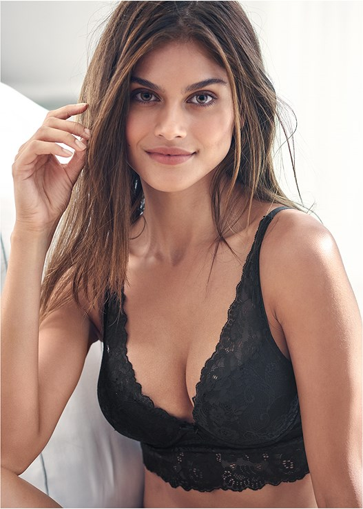 LONGLINE PUSH UP BRA,LACE TOP BRIEF 5 FOR $29