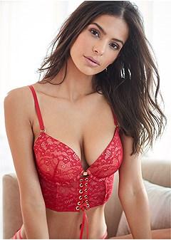push up longline bra