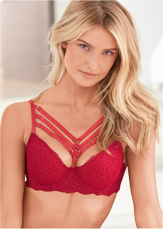 STRAPPY LACE CONTOUR BRA,KISSABLE STRAPPY PANTIES