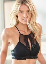 Front View Wire Free High Neck Bra