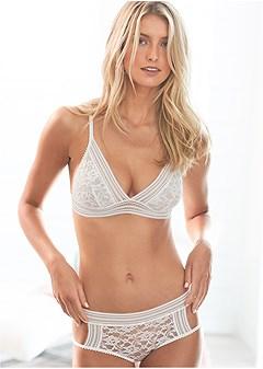 lace bralette panty set
