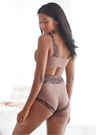 Back View Soft Cup Lace Bra