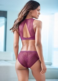 Cropped back view Lace Back Briefs