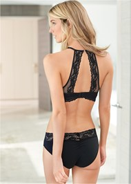 Back View Wire Free High Neck Bra