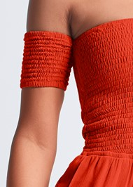 Detail front view Smocked Jumpsuit