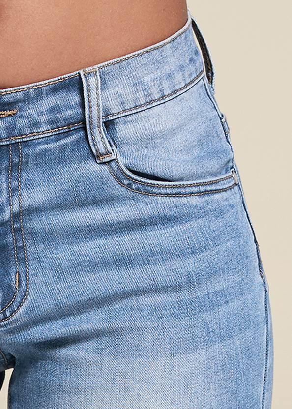 Alternate View Lace Trim Bermuda Shorts