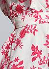 Detail front view Plunging Floral Top