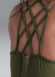Detail back view Strappy Detail Tank
