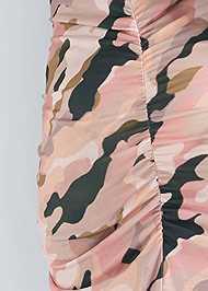 Detail back view Camo Maxi Dress