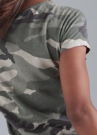 Detail back view Camo Pocket Top