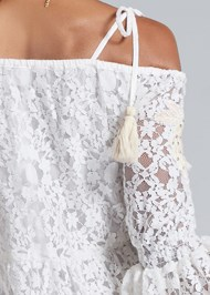 Detail back view Lace Off The Shoulder Dress