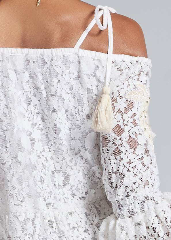 Detail back view Lace Off The Shoulder Dress