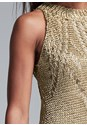 Alternate View Metallic Crochet Dress