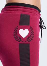 Detail side view Heart Detail Joggers