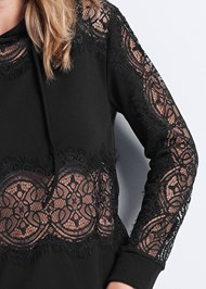 Alternate View Lace Detail Sweatshirt