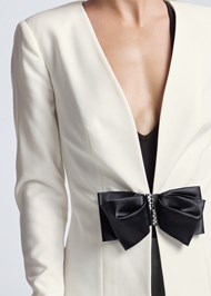 Detail front view Bow Detail Blazer
