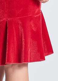 Detail back view Velvet Ruffle Midi Dress