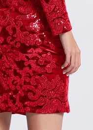 Alternate View Sequin Velvet Detail Dress