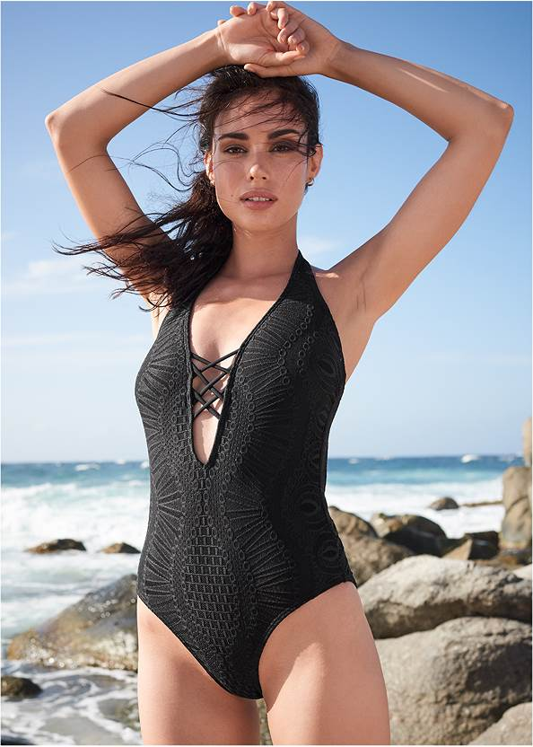 Lace Strappy One-Piece