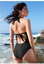 Back View Lace Strappy One-Piece